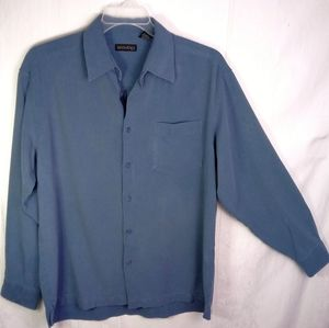 L Men's Anthology L/S Silk Button Down Shirt
